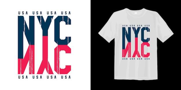 Impresión de camiseta estilo gráfico de la ciudad de nueva york, ee. uu.