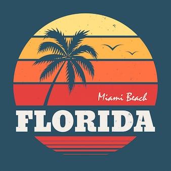 Impresión de camiseta de florida miami beach