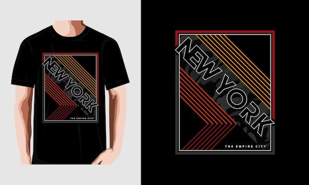 Impresión de camiseta de vector de tipografía de la ciudad de nueva york vector premium