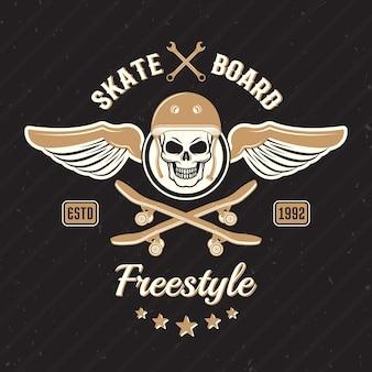 Impresión coloreada del skateboarding
