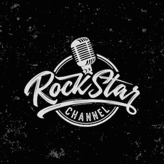 Impresión de eslogan de texto de estrella de rock para camiseta y otros usos