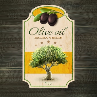 Impresión de la etiqueta de aceite de oliva
