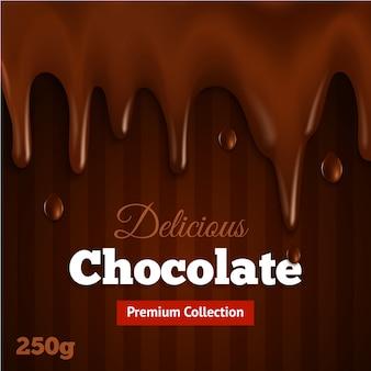 Impresión de fondo de chocolate oscuro