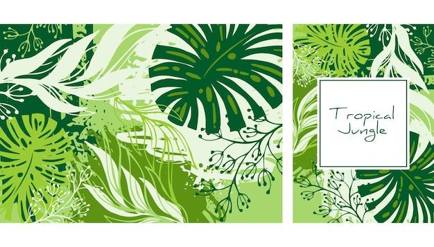 Impresión de hojas. verano . fondo creativo.