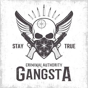 Impresión monocromática de gángster