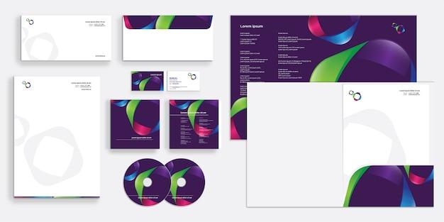 Impresión de papelería de identidad empresarial corporativa
