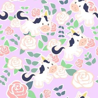 Impresión rosa unicornio