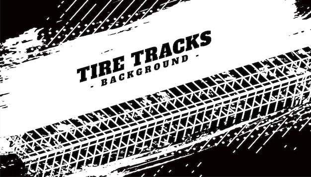Impresión de textura de neumático sobre fondo sucio grunge
