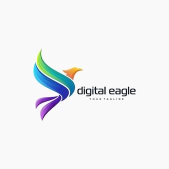 Impresionante águila logo diseño vectorial