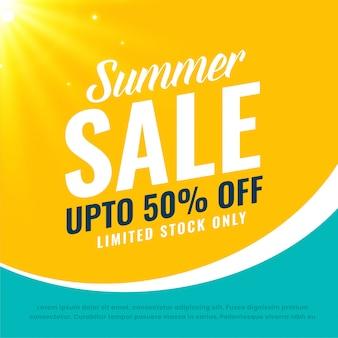 Impresionante banner de venta de verano brillante
