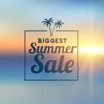 Impresionante banner de venta de verano con estilo