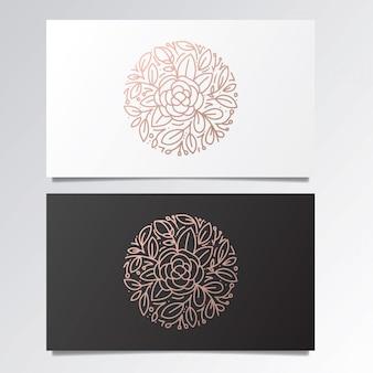 Impresionante conjunto de logotipo y tarjeta de visita