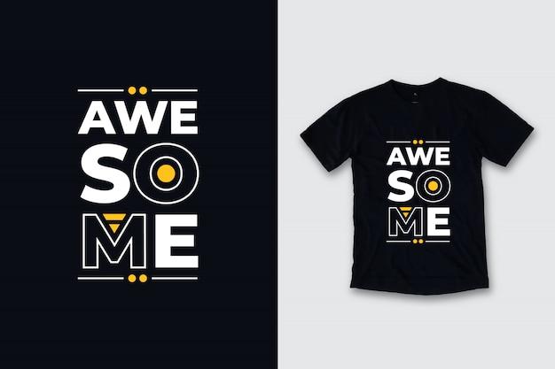 Impresionante diseño de camiseta de citas modernas