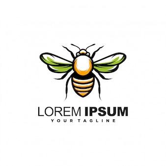 Impresionante diseño de logotipo de abeja