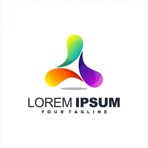 Impresionante diseño de logotipo abstracto degradado