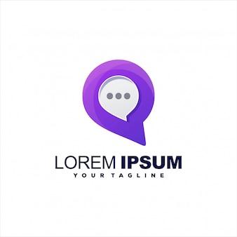 Impresionante diseño de logotipo de chat de medios
