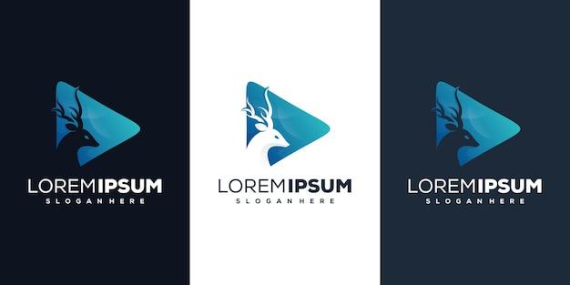 Impresionante diseño de logotipo de ciervo p