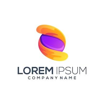 Impresionante diseño de logotipo de círculo abstracto