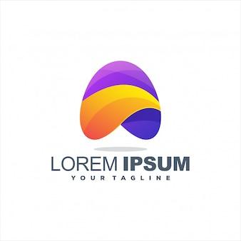 Impresionante diseño de logotipo colorido abstracto