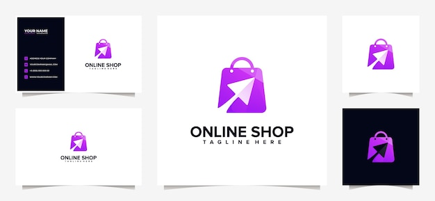 Impresionante diseño de logotipo comercial colorido y tarjeta de visita