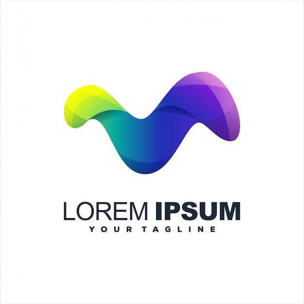 Impresionante diseño de logotipo degradado abstracto