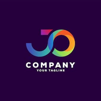 Impresionante diseño de logotipo degradado de letras