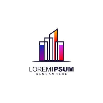 Impresionante diseño de logotipo inmobiliario premium