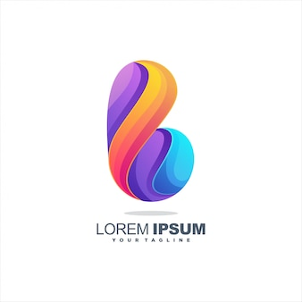 Impresionante diseño de logotipo letra b