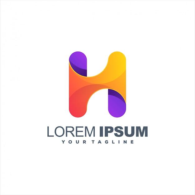 Impresionante diseño de logotipo letra h