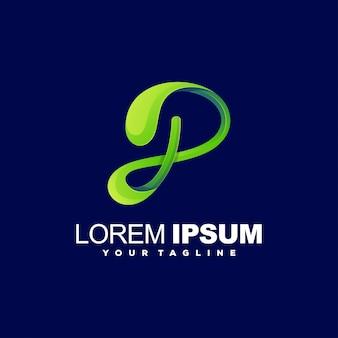 Impresionante diseño de logotipo letra p