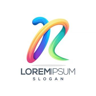 Impresionante diseño de logotipo letra r