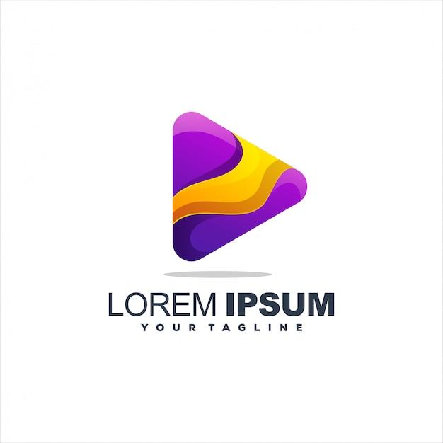 Impresionante diseño de logotipo de media play