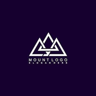 Impresionante diseño de logotipo de tres monturas