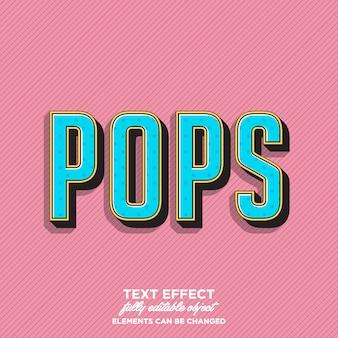 Impresionante estilo de texto de arte pop