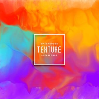 Impresionante fondo de acuarela colorida textura