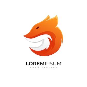 Impresionante fox logo premium