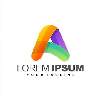 Impresionante letra a logo