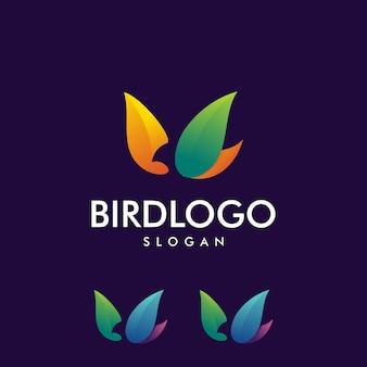 Impresionante logo de aves coloridas