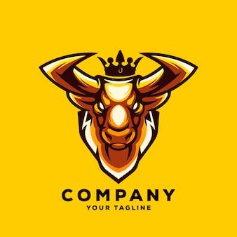 Impresionante logo de bull vector