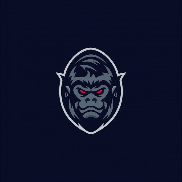Impresionante logo de gorila