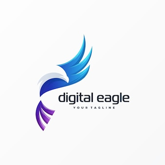Impresionante logotipo de águila