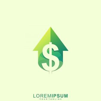 Impresionante logotipo de la casa de venta