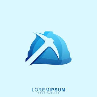 Impresionante logotipo de casco minero