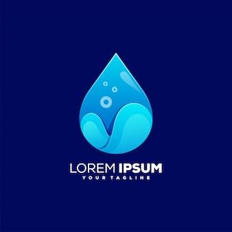 Impresionante logotipo de color de agua