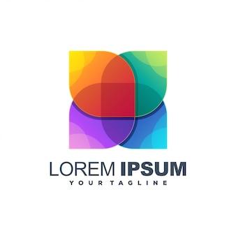 Impresionante logotipo de color de flores