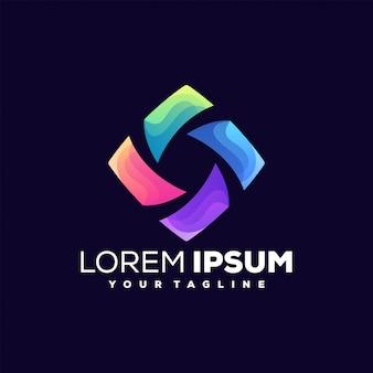 Impresionante logotipo de color multimedia