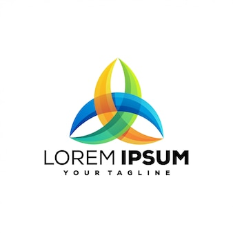 Impresionante logotipo colorido de los medios
