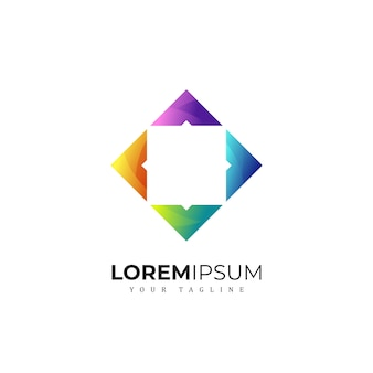 Impresionante logotipo cuadrado premium