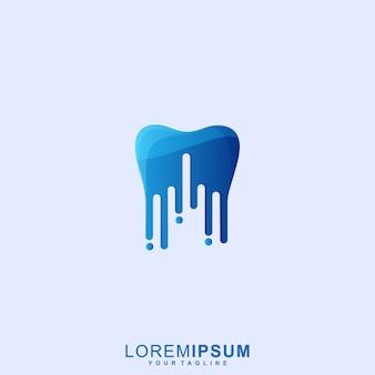 Impresionante logotipo de dental tech