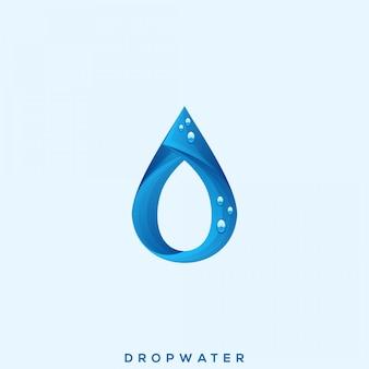 Impresionante logotipo de drop water premium